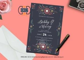 Thiệp mời cưới đơn giản