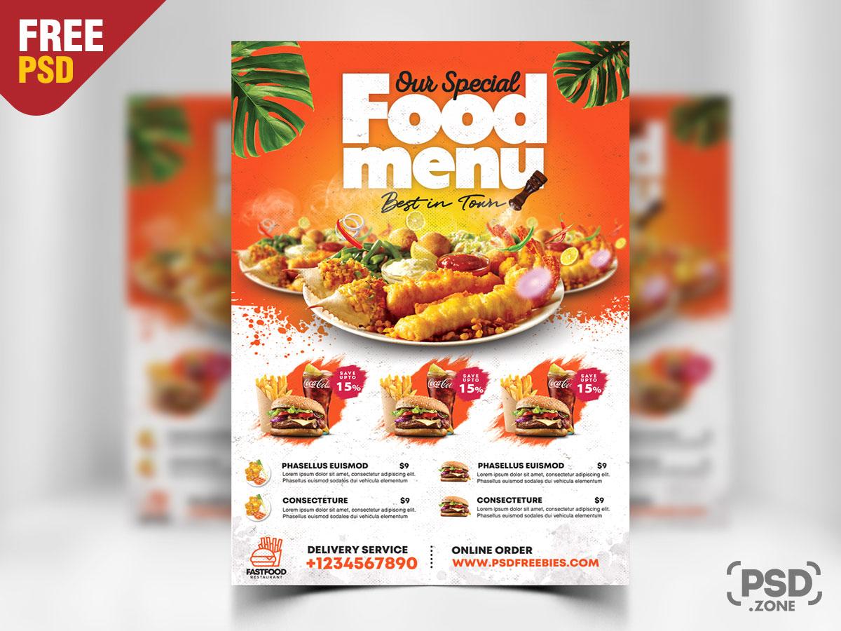 Fast Food Restaurant Flyer PSD
