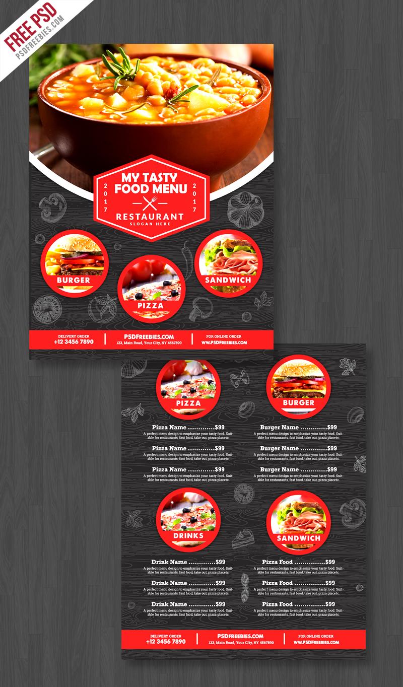 Restaurant Food Menu Flyer Free PSD Preview