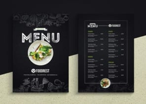 Tờ rơi A5 dạng menu