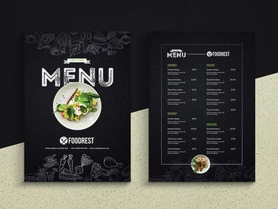 creative dark food menu flyer 1539240055