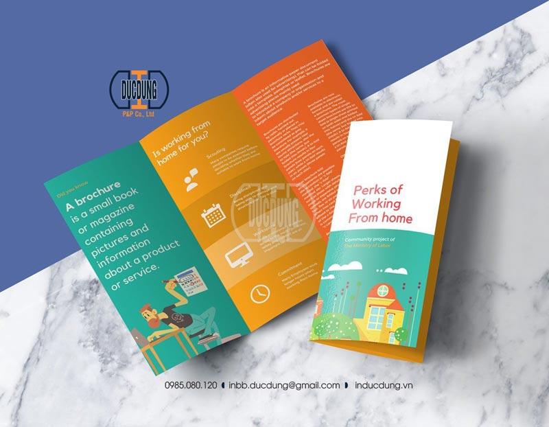 kích thước brochure gấp 3, Brochure BR-CL-16