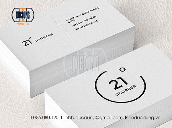 sử dụng danh thiếp đơn giản - mẫu Name card NC-BW-11