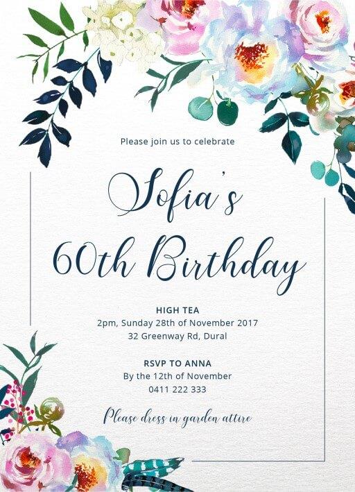Thiệp mời kỷ niệm sinh nhật