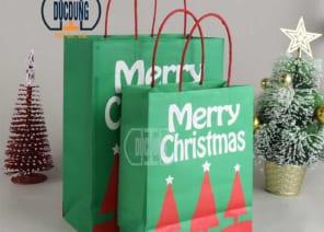 Túi giấy đựng quà giáng sinh HB-GR-13