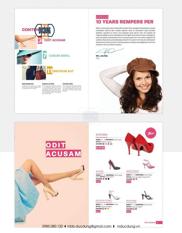 Catalogue quảng cáo giày