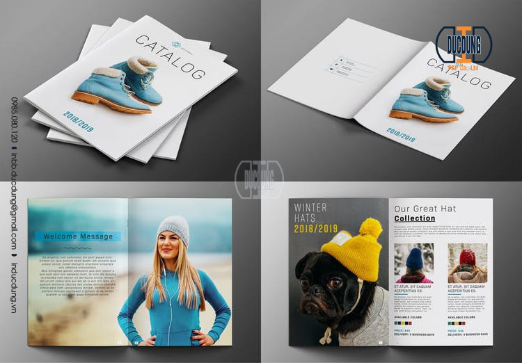 Catalogue bộ sưu tập - kích thước catalogue A4