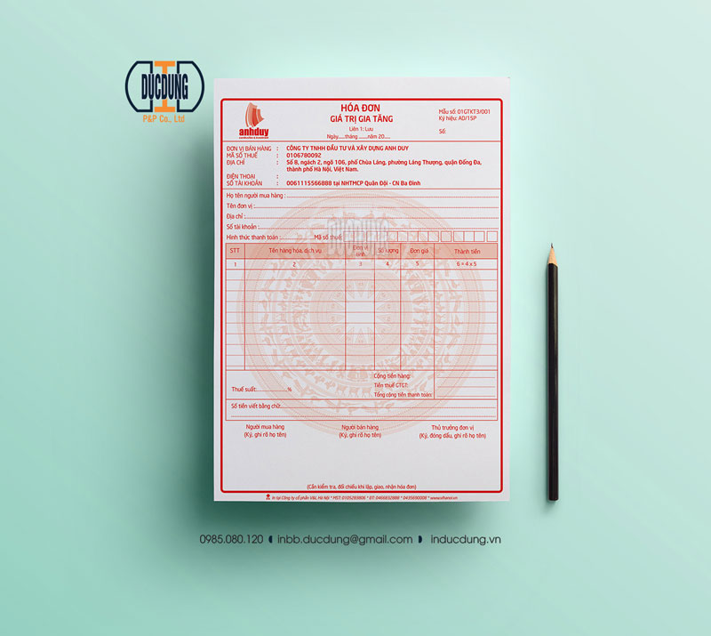 Hoá đơn bán lẻ INV-A4-14