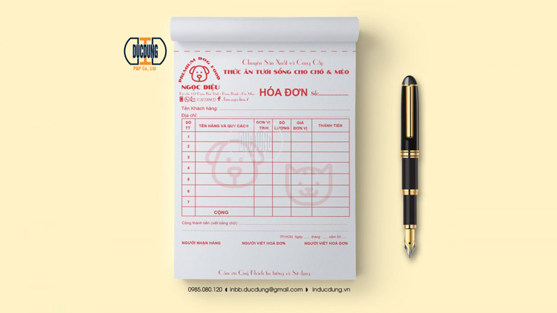 Hoá đơn bán lẻ INV-A5-16