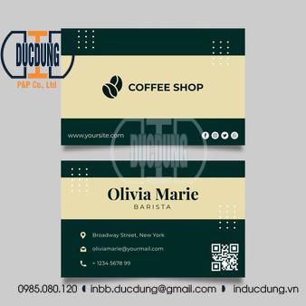 Card visit coffe shop