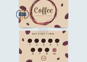 Thẻ tích điểm cho quán cafe