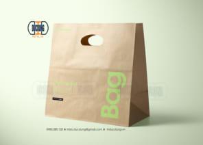 Túi giấy đựng quà không dùng dây quai