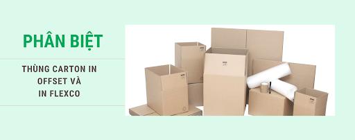 Phân biệt thùng carton in offset và in flexo